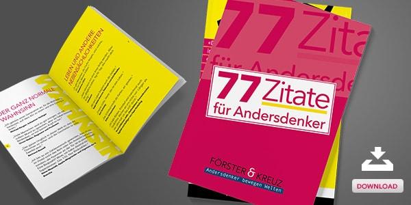 77 Zitate für Andersdenker – Unser neues Zitatebuch