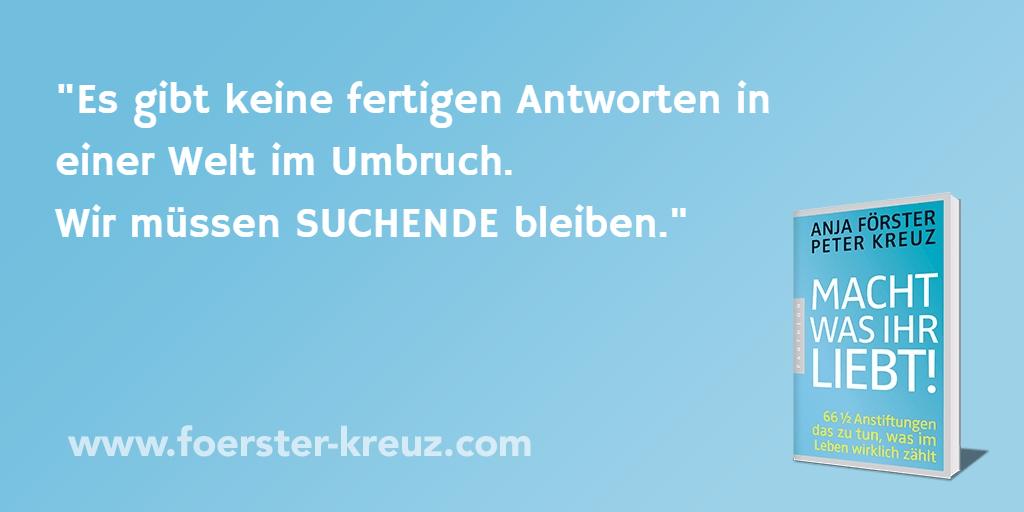 Antworten, Lösung, Umbruch, Anja Förster, Peter Kreuz