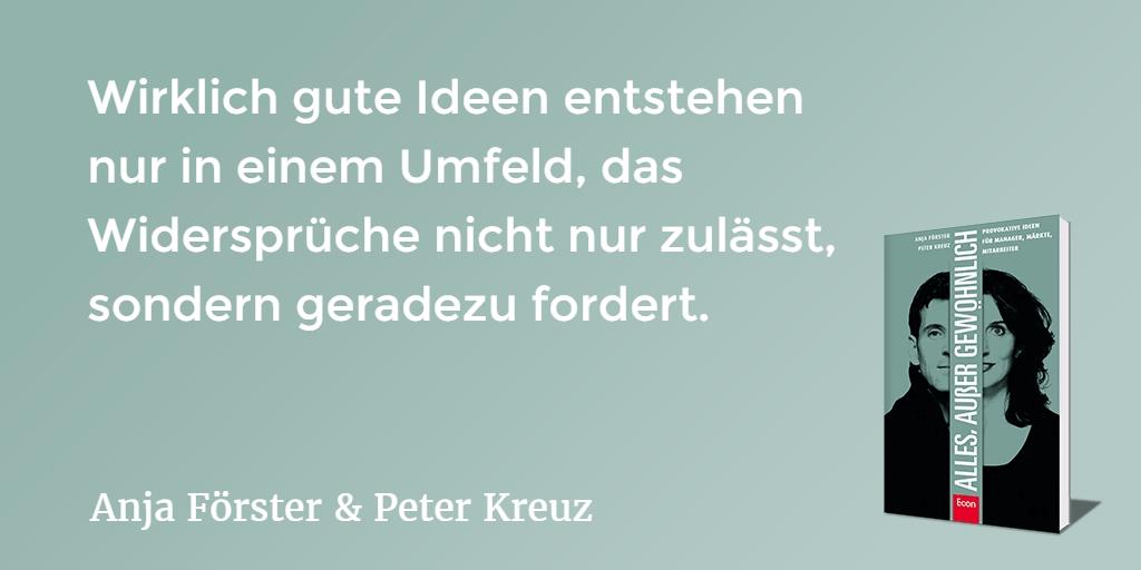 Querdenker, Anja Förster, Peter Kreuz, Team, Pioniere, Innovation, Lösung, Erfolg,